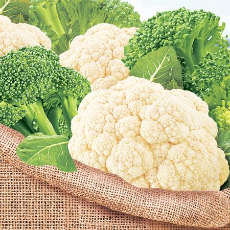 Аппетитный микс из цветной капусты и капусты брокколи
